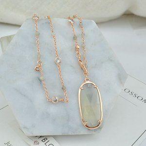 Henri Bendel Natural Stone Long Necklace